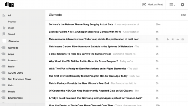 Digg Reader Hands-On: Your Google Reader Life Raft Is Here