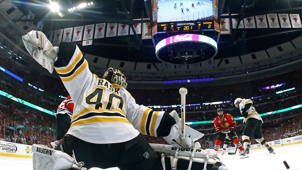 Tuukka Rask Does Everything He Can, But Chicago Wins Game 5