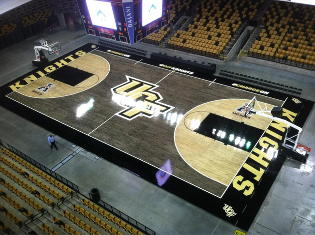 What does the cheap seats think of ucf 39 s new basketball for Cheapest way to make a basketball court