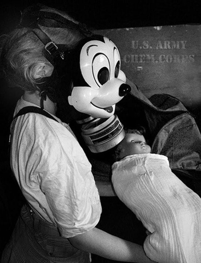 Somehow This WWII Mickey Mouse Gas Mask Was Supposed to Be Less Creepy