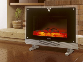 fireplace heater looks feels just like the real thing