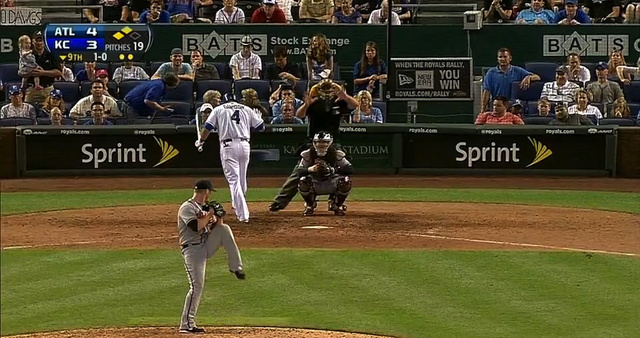 While In The Batter's Box, Alex Gordon Was Attacked By A Giant …
