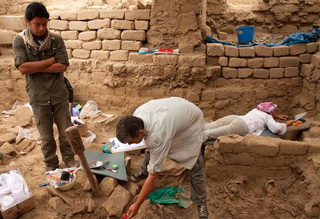 A pristine 'temple of the dead' has been uncovered in Peru