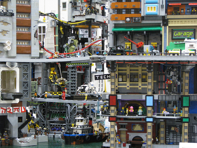 This Decaying, Futuristic Lego City Is Neotokyo Reborn