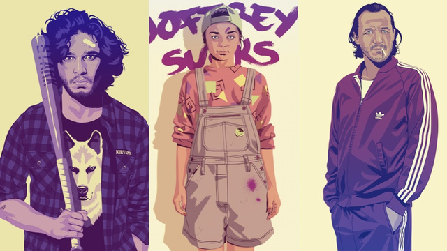The Game of Thrones cast has an '80s theme party in this awesome art
