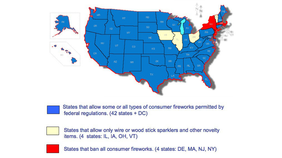 The Firework Laws in Every State