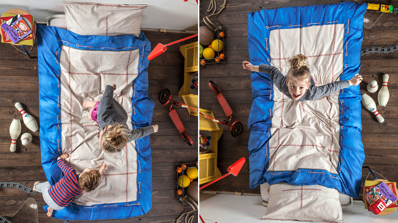 trampoline sheets enhance what beds are really for gizmodo australia. Black Bedroom Furniture Sets. Home Design Ideas
