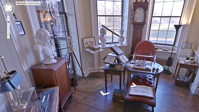 Google Maps Street View Now Lets You Explore Thomas Jefferson's Digs