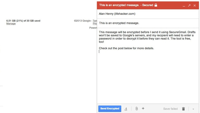 Gmail Encryption Plugin