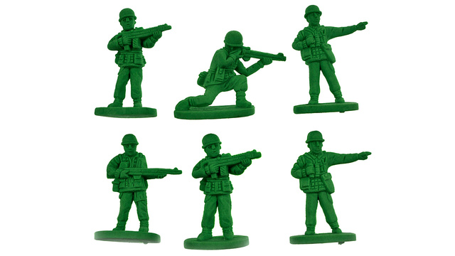 Army Men Erasers Bravely Fight the War On Error