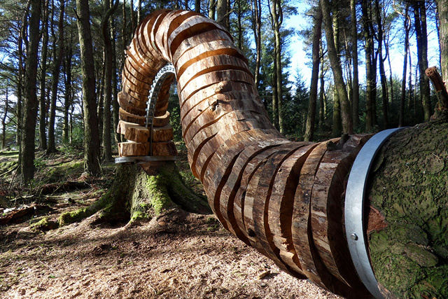 Woodland Sculptures Recreate the Moment Felled Trees Hit the Ground