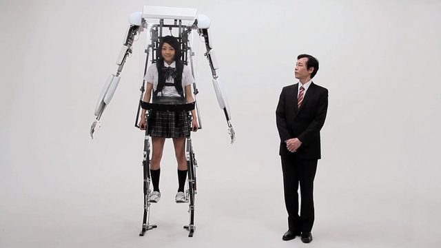 This Crazy Exoskeleton Suit Gives Schoolgirls (or Anyone) Super Powers
