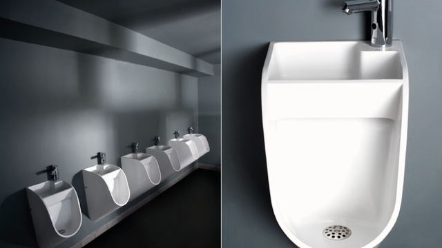 ku xlarge Horrific new urinal design includes built in sink