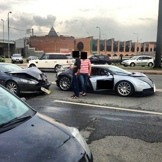 Aston Martin Crashes Into Bugatti Veyron In Expensive Fender-Bender
