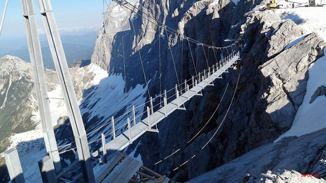 A Terrifying Staircase To Nowhere Provides Dizzying Views Of the Alps