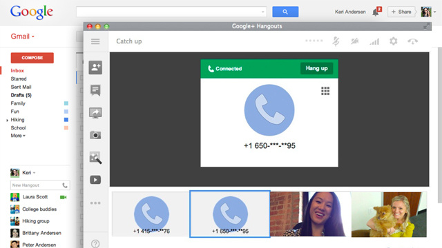 Gmail Calling Is Back, Now Part of Google Hangouts