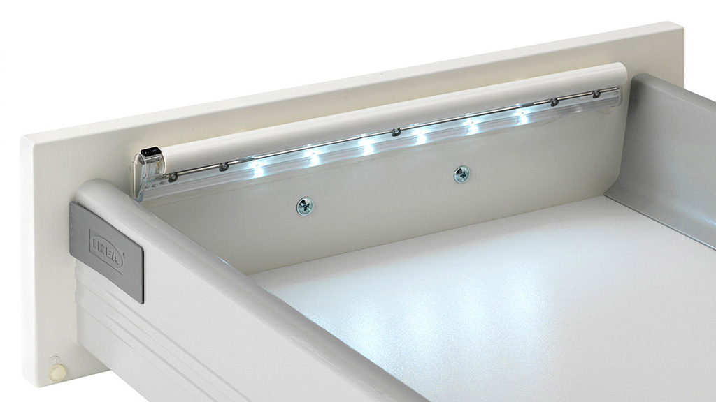 ikea 39 s led strips automatically illuminate the deepest darkest drawers gizmodo australia. Black Bedroom Furniture Sets. Home Design Ideas
