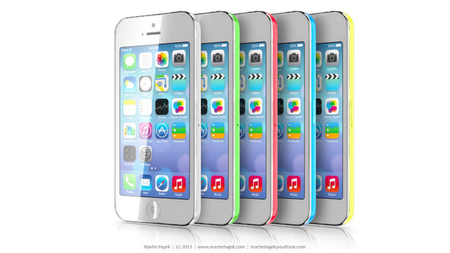 iPhone 5C leaked photo - rainbow and colorful casing
