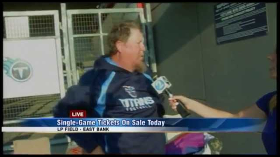 TV Reporter Wakes Up Only Guy Camped Out To Buy Titans Ticket
