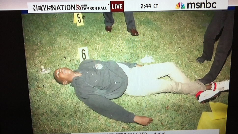 This, Courtesy of MSNBC, Is Trayvon Martin's Dead Body. Get Angry.