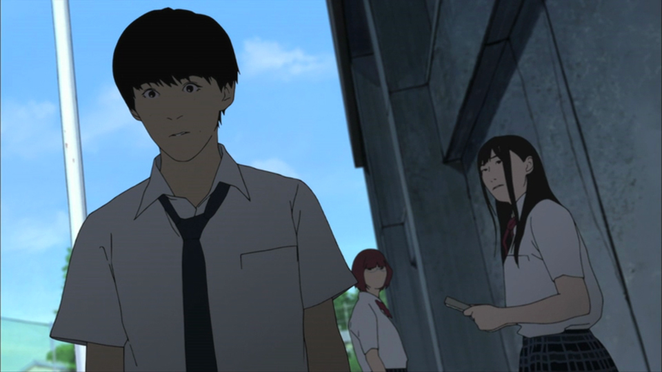 Flowers of evil follows three main characters in a pseudo love