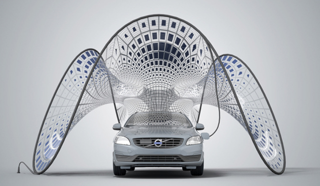 Volvo's Folding Solar Panels Are Basically The Coolest Thing Ever