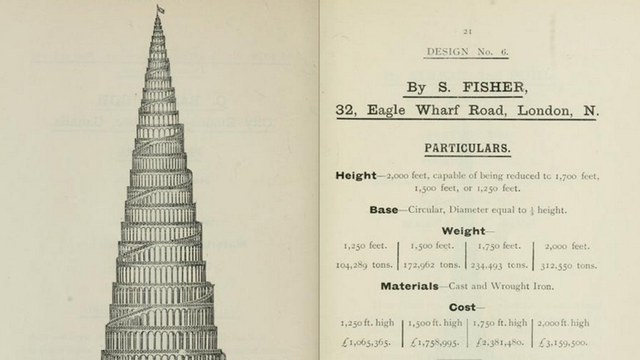 68 Plans For London's Hilariously Misguided Response to the Eiffel Tower