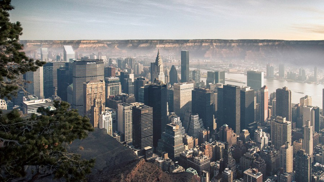 What would NYC would look like in the Grand Canyon, or Death Valley?