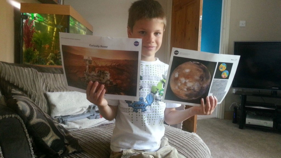 This Is The Adorable Letter A 7-Year-Old Sent NASA To Go To Mars