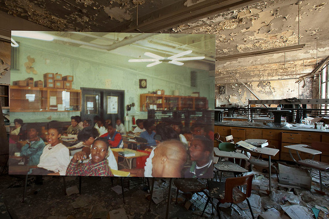 The Destruction of Detroit in Heartbreaking Before & After Photographs