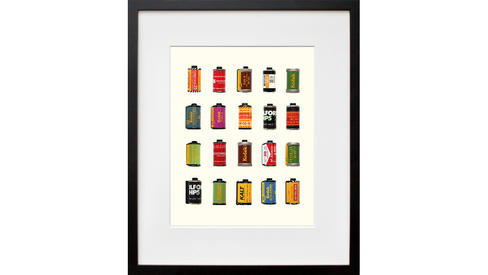 A Digital Print Of Vintage Film Canisters Is Paradoxically Adorable
