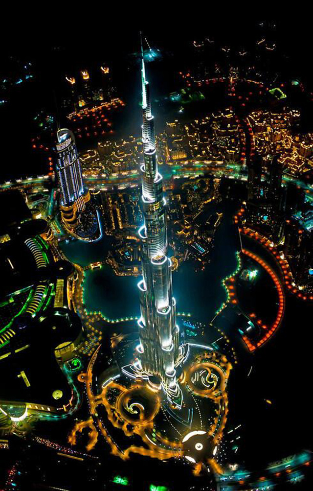 The World's Tallest Building Looks Badass From A Helicopter