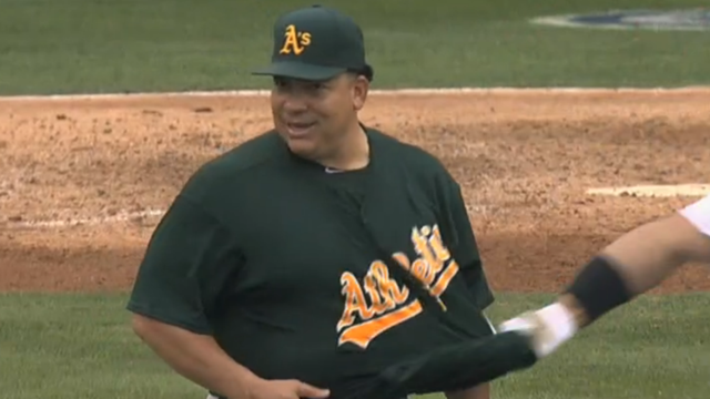 Albert Pujols Gets Robbed At The Wall, Tries To Undress Bartolo…