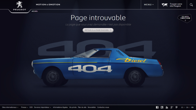 This is Peugeot's Error 404 Page, And It Made Me Laugh