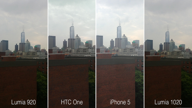 Lumia 1020 is the HTC One. In fact, from there it might seem like it