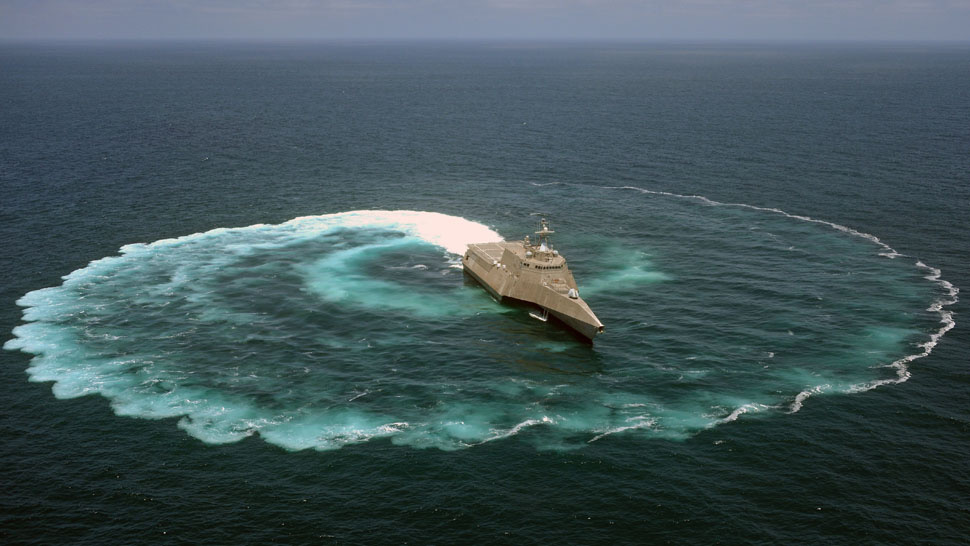 What Happens When the US Navy Does a Donut in the Pacific Ocean