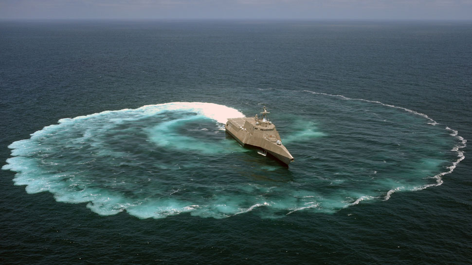 What Happens When The US Navy Does A Doughnut In The Pacific Ocean