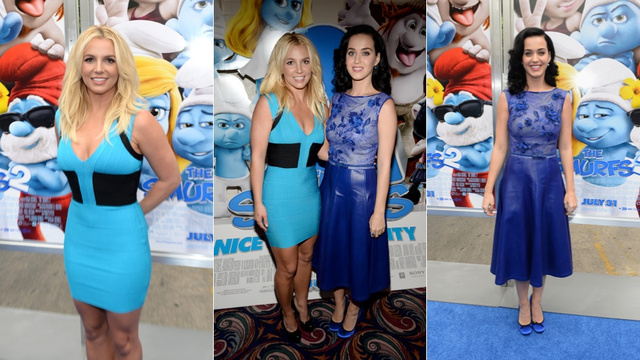 Katy Perry and Britney Spears Are Smurftastic