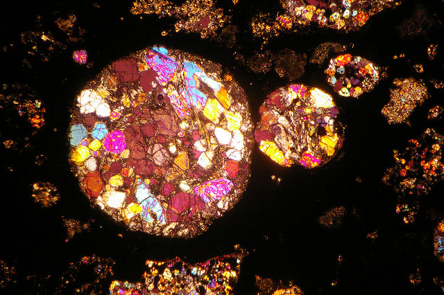 The Insides of Meteorites Are Nature's Stained Glass