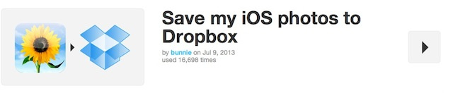 Save my iOS photos to Dropbox