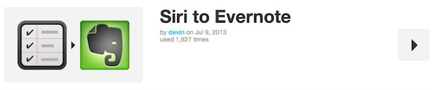 Siri to Evernote