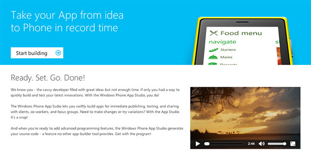 Windows Phone App Studio Makes App Creation as Easy as Drag and Drop