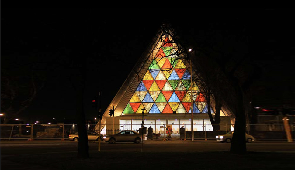 Inside the Cardboard Chapel That Replaced an Earthquake-Ruined Church