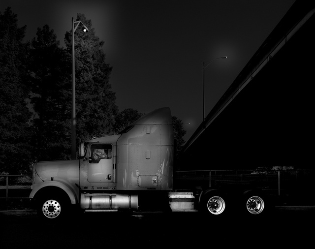These Black And White Photos Turn Truckstops Into Art