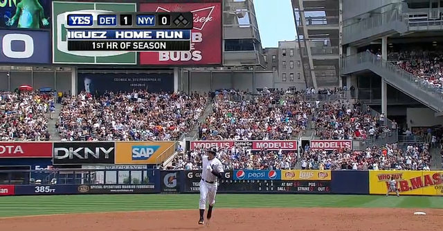 A-Rod Hit His First Home Run Of The Season