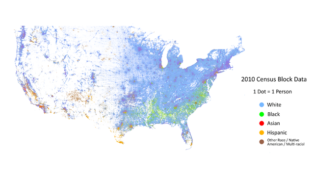 The Entire Racial Distribution of the US, Person-By-Person