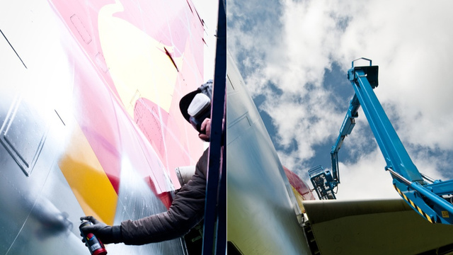 Watch These Graffiti Masters Turn a Boeing 737 Into Airborne Art