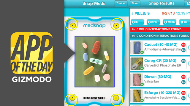 MedSnap ID for iOS: Identify Pills & Potential Interactions In 1 Photo