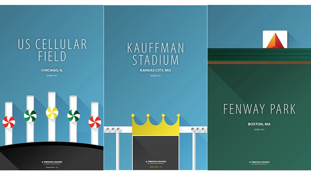 These Minimalist Baseball Stadium Posters Are Fantastic