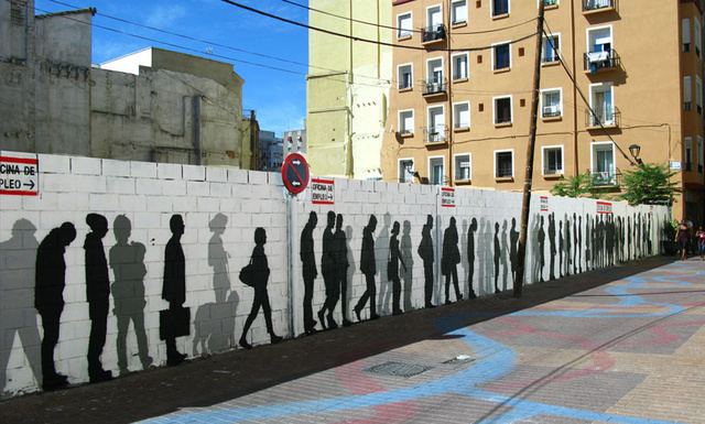 7 Street Art Stencils That Interact With Their Surroundings